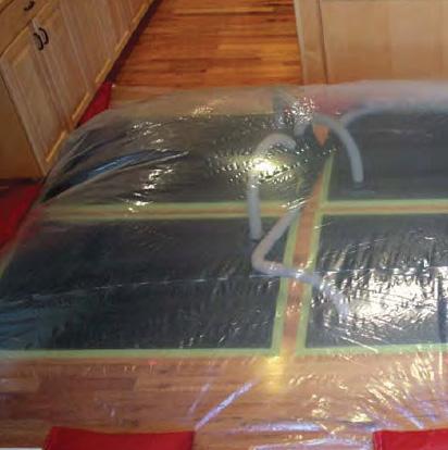 Water Damaged Hardwood Floor Drying